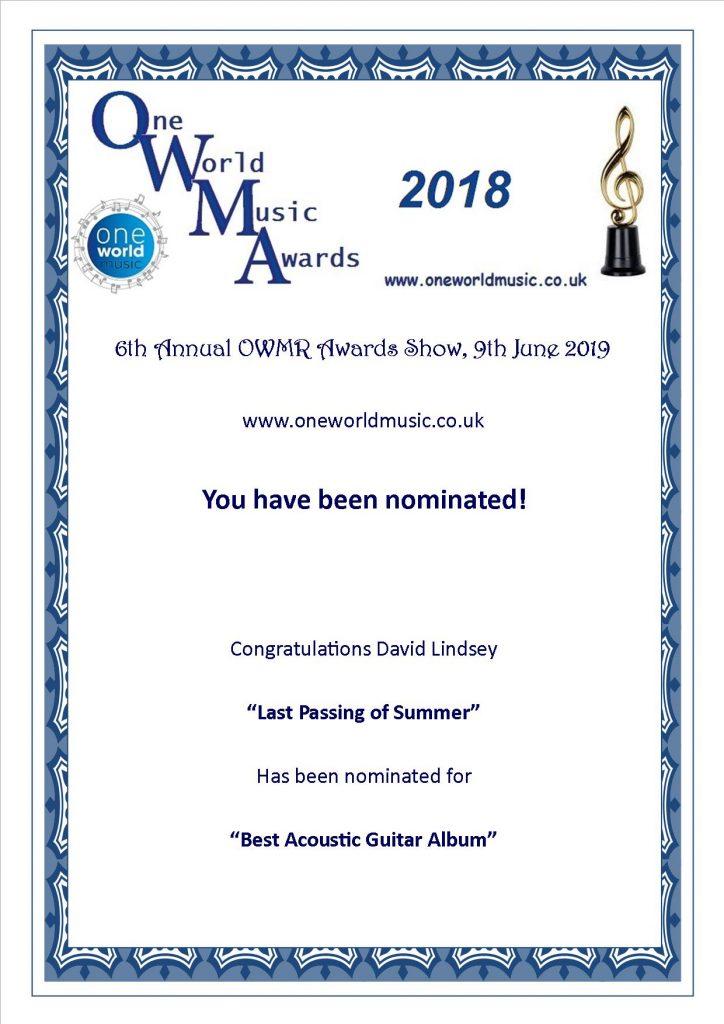 Nomination Best Acoustic Guitar Album